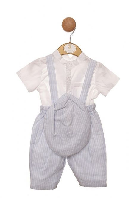 Cotton Dungarees, Shirt & Cap